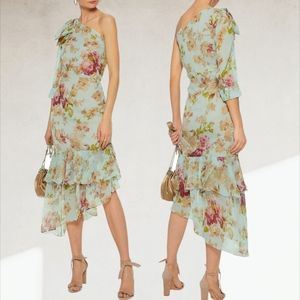 Walter Baker Sophina Tiered Floral Midi Dress